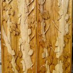 Complete panels, Carved birch trees