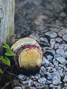 Old Leather and Forgotten Seams, 18x24 oil on canvas, Oil painting by John Huisman