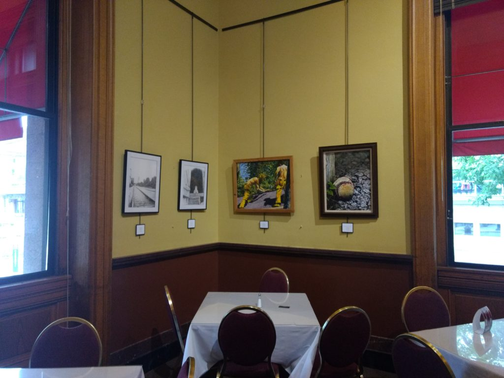 Artwork of John Huisman on display at the Landmark Center in St. Paul